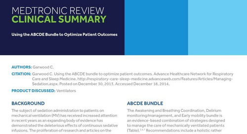 Clinical Summary: Using the ABCDE Bundle to Optimize Patient Outcomes