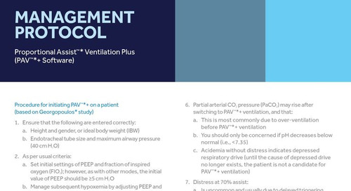 Info Sheet: Management Protocol for PAV+™ Software