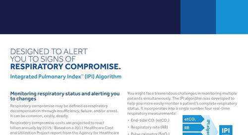 Integrated Pulmonary Index™ (IPI) Algorithm - Smart Alarm Management