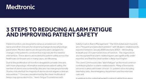 3 Steps to Reducing Alarm Fatigue and Improving Patient Safety
