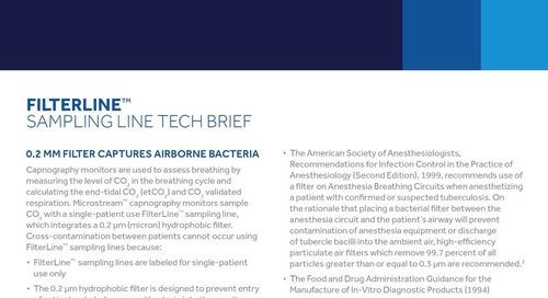 0.2MM Filter Captures Airborne Bacteria in Microstream™ FilterLine™