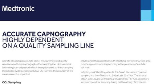 Why Accurate Capnography Is Highly Dependent on a Quality Sampling Line