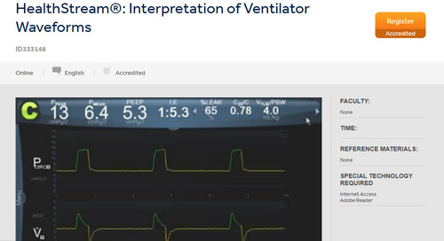 HealthStream®: Interpretation of Ventilator Waveforms