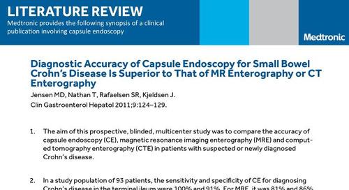 Diagnosing Small Bowel Crohn's Disease with Capsule Endoscopy: PillCam™ SB 3 Literature Review