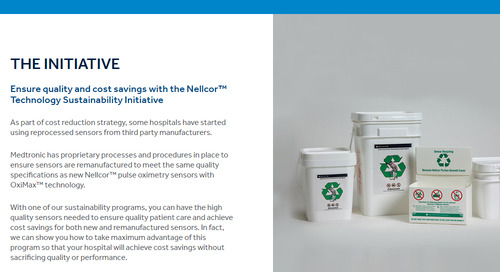 The Nellcor™ Technology Sustainability Initiative