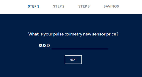 Cost Savings Calculator:  Nellcor™ Sensor Remanufacturing Program