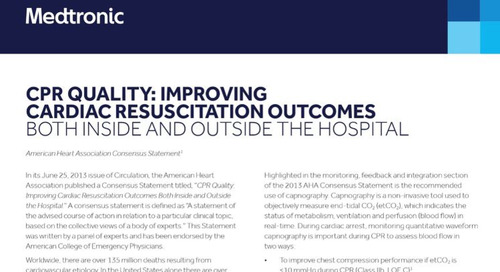 CPR Quality: Improving Cardiac Resuscitation Outcomes Both Inside and Outside the Hospital
