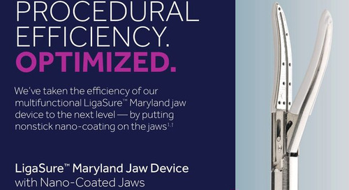 Info Sheet: LigaSure™ Maryland Jaw Device with Nano-Coated Jaws