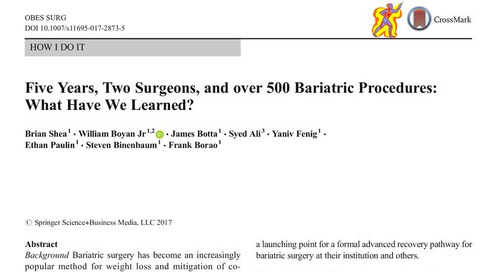Five Years, Two Surgeons and 500+ Bariatric Procedures: What Have We Learned?