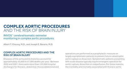 Complex Aortic Procedures and the Risk of Brain Injury