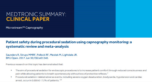 Patient Safety During Procedural Sedation Using Capnography Monitoring: A Systematic Review and Meta-analysis