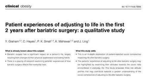 Patient Experiences of Adjusting to Life in the First 2 Years After Bariatric Surgery: A Qualitative Study