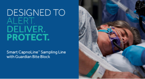 Smart CapnoLine™ Sampling Line with Guardian Bite Block: Designed to Alert. Deliver. Protect.