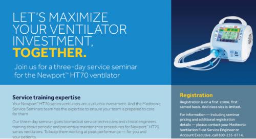 Newport™ HT70 Plus 3-Day Service Seminar Info Sheet