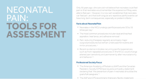 Neonatal Pain: Tools for Assessment