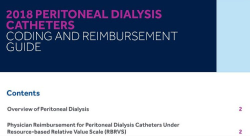 2018 Peritoneal Dialysis Coding Guide
