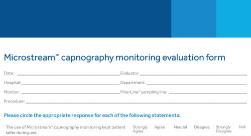 Microstream™ Capnography Monitoring Evaluation Form