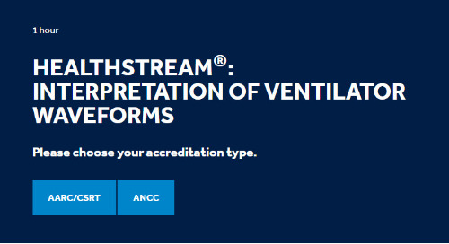 HealthStream®: Interpretation of Ventilator Waveforms [Get Started]