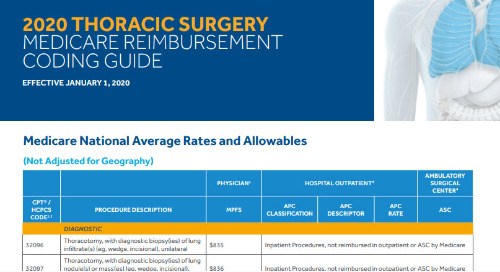 Thoracic Surgery Medicare Reimbursement Coding Guide