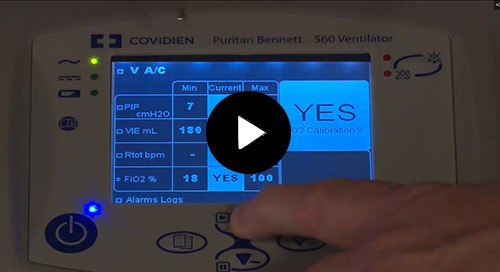 Video: Puritan Bennett™ PB560 Calibration of the Flow and Oxygen Sensor