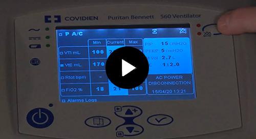 Video: Puritan Bennett™ PB560 Screen Navigation and Calibration