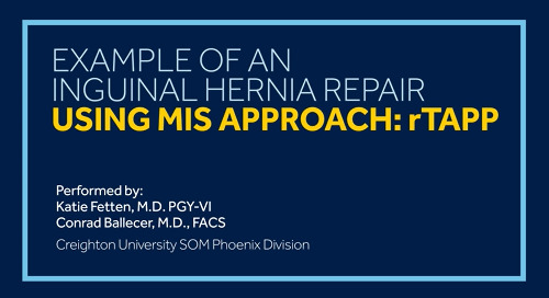 Watch a Procedure Using Dextile™ Anatomical Mesh