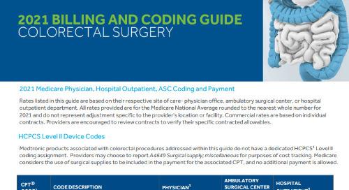 Coding Guide: Colorectal Surgery Medicare Reimbursement