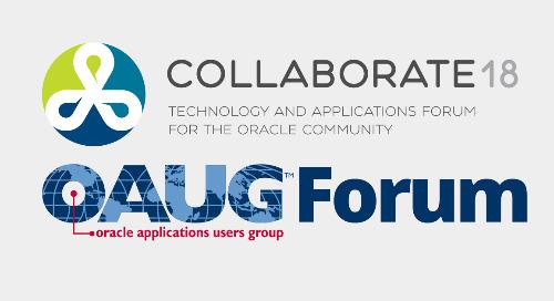 Oracle Collaborate | April 22-26 | Las Vegas, NV