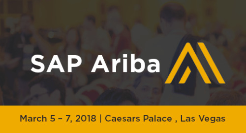 SAP Ariba | March 5-7 | Las Vegas, NV