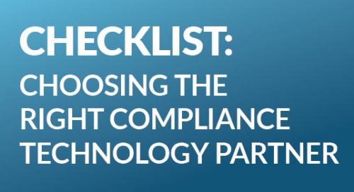 Infographic: A Checklist for Choosing the Right Compliance Technology Partner