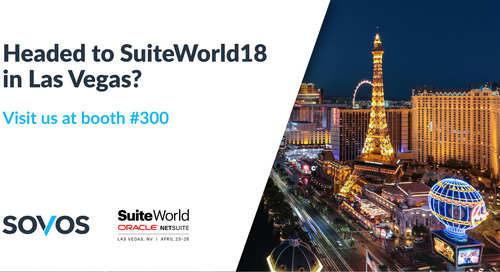 Sovos at NetSuite SuiteWorld18 - The Next Level of Tax Compliance