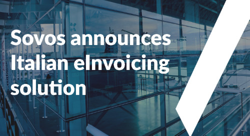 Sovos Extends Italian eInvoicing Solution in Advance of January 1 Deadline, Adding to World's Only Global Solution for eInvoicing Compliance