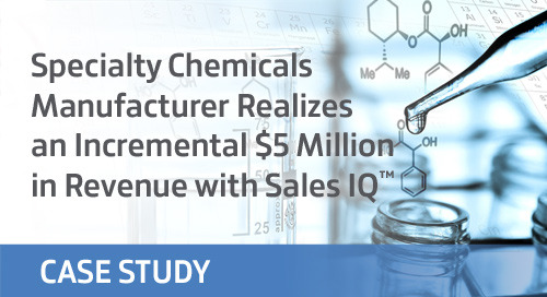 Specialty Chemicals Manufacturer Realizes an Incremental $5 Million in Revenue