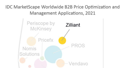 Zilliant Named a Leader in the 2021 IDC MarketScape for B2B Price Optimization & Management Applications