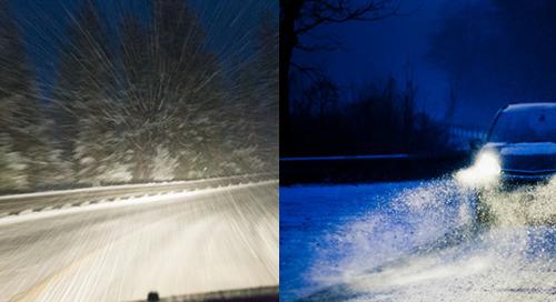 Comment préparer votre voiture pour l'hiver avec des phares transparents.