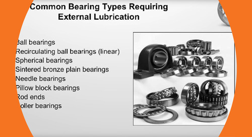 Webinar - The True Cost of Bearing Lubrication