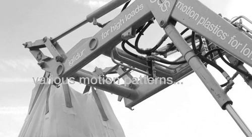 iglide® plastic bearings on a front loader test rig