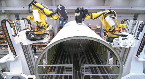 Robots bring airplane production up to speed