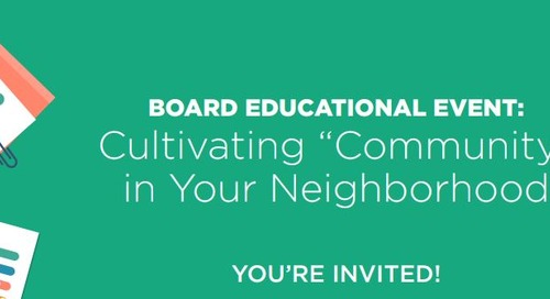 Cultivating Community in your Neighborhood