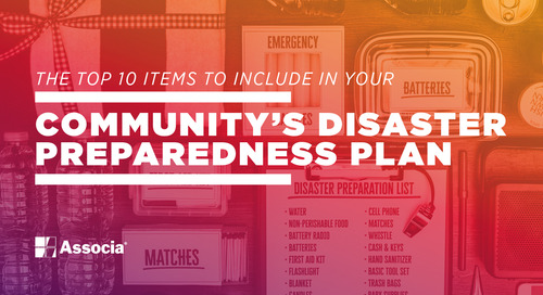 The Top 10 Items to Include in Your Community's Disaster Preparedness Plan