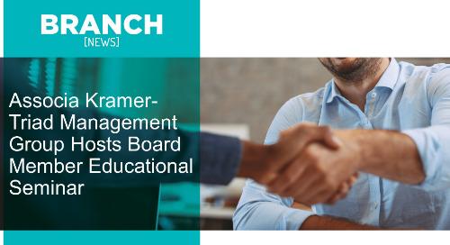 Associa Kramer-Triad Management Group Hosts Board Member Educational Seminar