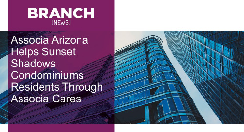 Associa Arizona recently helped provide assistance to Sunset Shadows Condominiums residents through Associa's national non-profit organizati