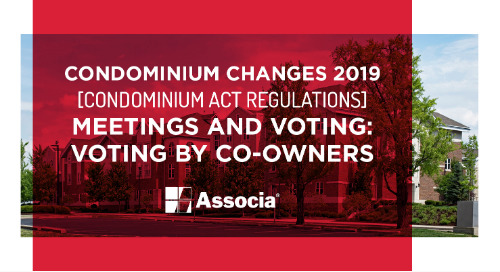 Condominium Changes 2019: Condominium Act Regulations: Meetings and Voting: Voting by Co-Owners