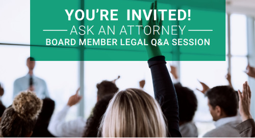 Board Member Legal Q&A Session