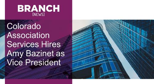 Colorado Association Services Hires Amy Bazinet as Vice President