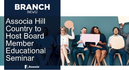Associa Hill Country to Host Board Member Educational Seminar