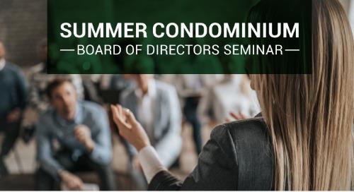 Summer Condominium Seminar