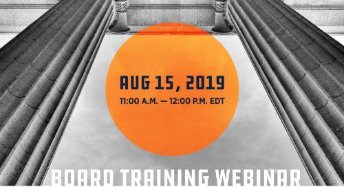 Board Training Webinar