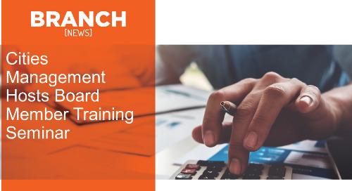 Cities Management Hosts Board Member Training Seminar