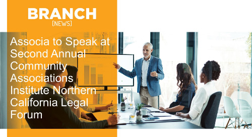Associa to Speak at Second Annual Community Associations Institute Northern California Legal Forum
